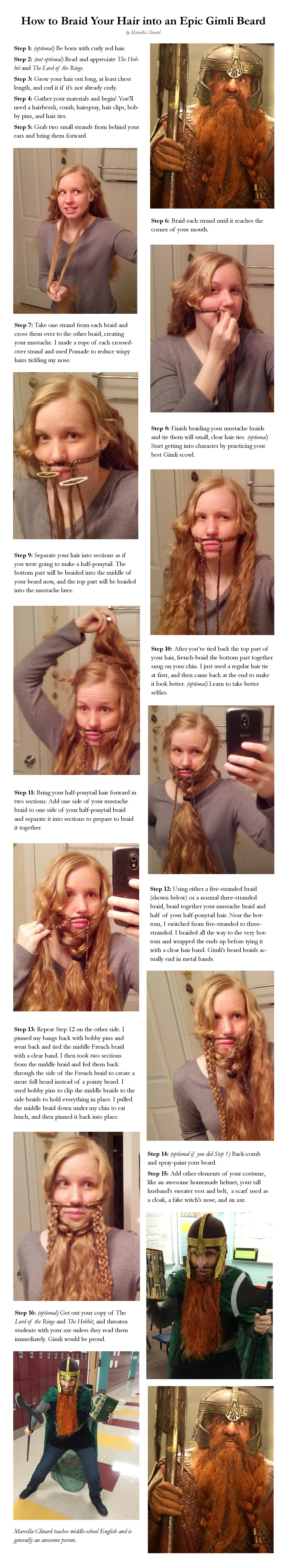 gimli beard tutorial
