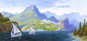 White Ships from Valinor by Ted Nasmith