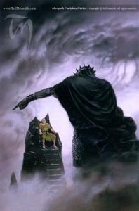 Hurin and Morgoth - Ted Nasmith