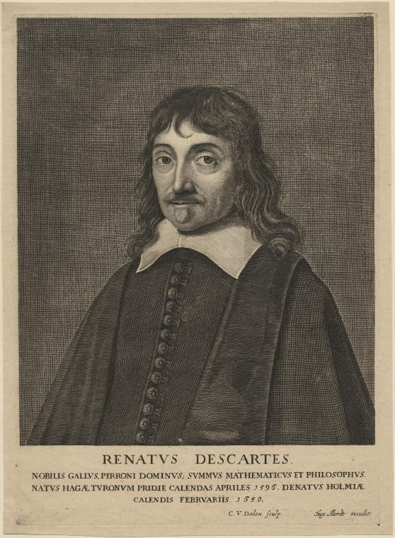 René Descartes. Maker(s): Dalen, Cornelis I van; printmaker; Dutch artist, 1602-1665 Allard, Hugo; publisher; Dutch artist, 1627-1684