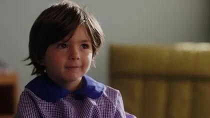 """Julián Sorín, el pequeño actor que participa de """"El cuaderno de Tomy"""", es nieto de Carlos Sorín, director del film"""