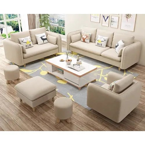 Mak Living Room Furniture Jorgen Sofa Set Ottoman Beige Konga Online Shopping