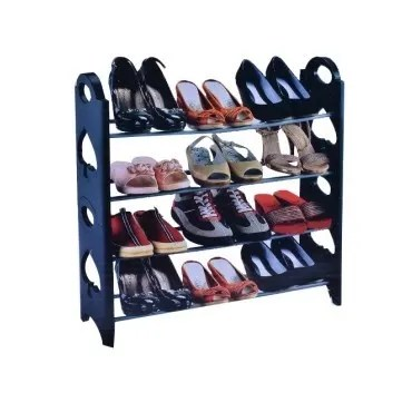 stackable shoe rack holds 12 pairs of shoes