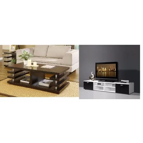 sitting room set tv stand and coffee table with free 2 side stool
