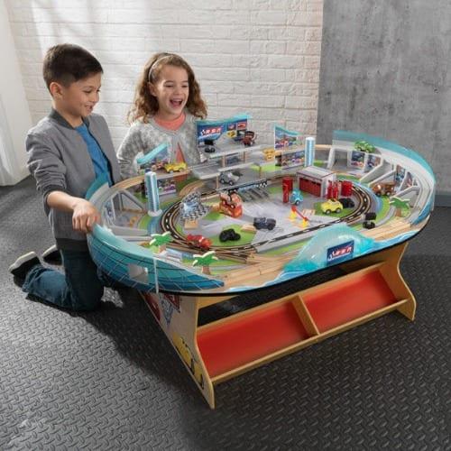 kidkraft disney pixar cars 3 florida speedway train table racetrack kids set
