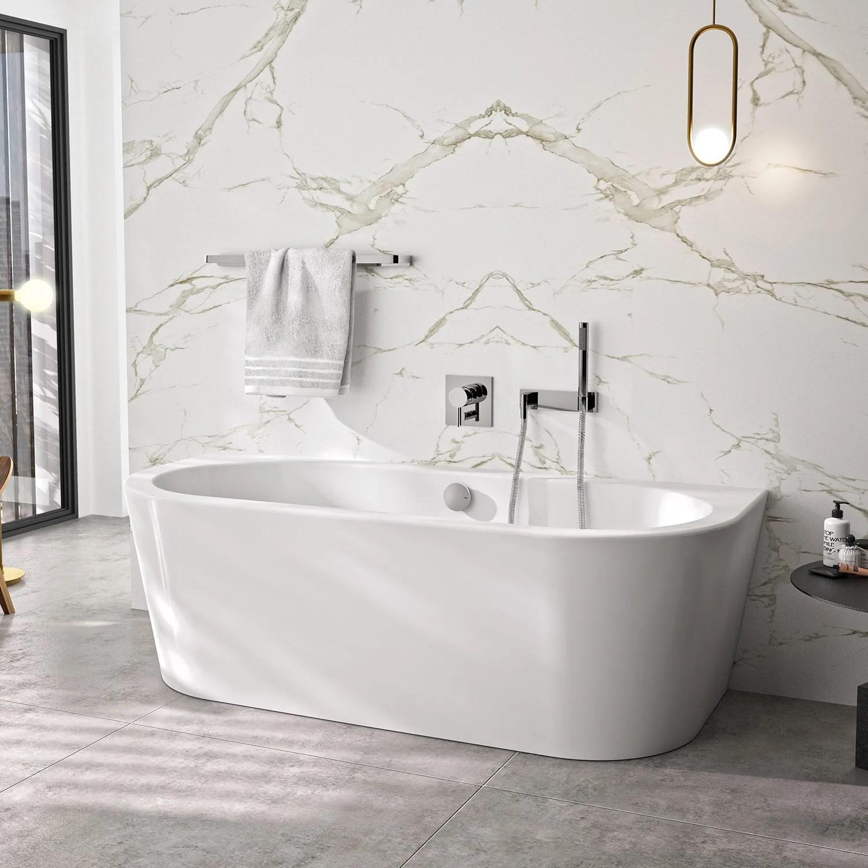 Steinkamp Living Freistehende Vorwand Badewanne 180 X 80 Cm St010w Megabad