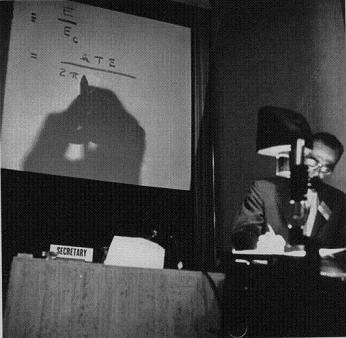 Lyman Spitzer explains the stellarator at the Second Geneva Conference on the Peaceful Uses of Atomic Energy, 1958
