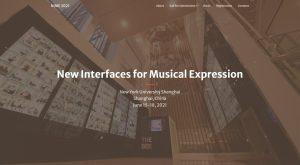 NIME 2021 homepage