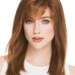 AF-S2-626387 Women's Straight Wigs Brown Shoulder Length Medium Synthetic Side Parting Hair Wigs