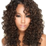 AF-S2-641075 Women's Wigs Hair African American Brownish Black Long Curly Synthetic Wigs
