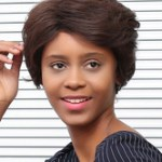 AF-S2-662823 Brown Hair Wigs African American Short Side Parting Synthetic Wigs