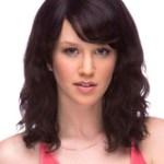AF-S2-589803 Black Wig Bangs Curly Medium Fiber Wig for Women