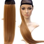 AF-S2-614011 Long Wig With Bangs Straight Synthetic Wig Extension