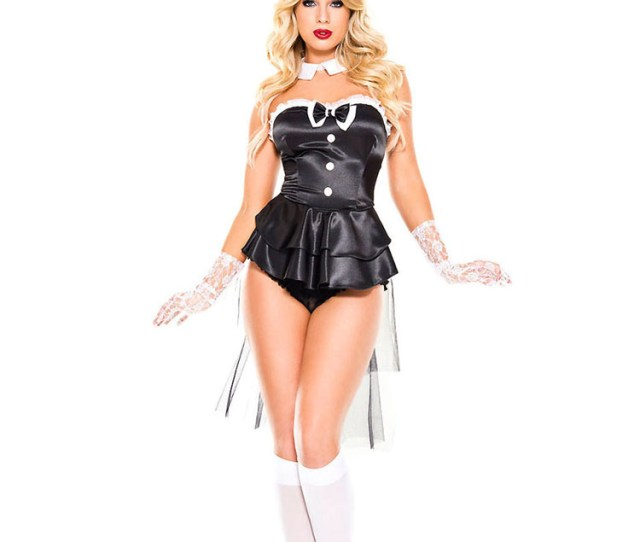 Bunny Sexy Costume Halloween Faux Leather Women Dresses Outfit