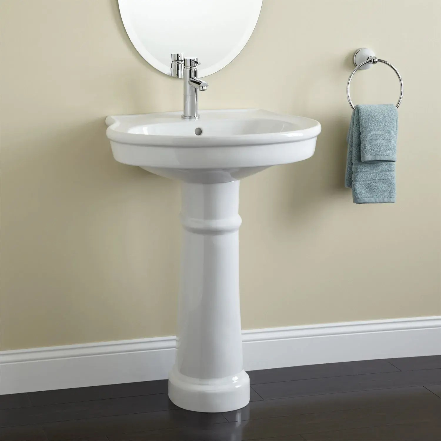 therese porcelain pedestal sink