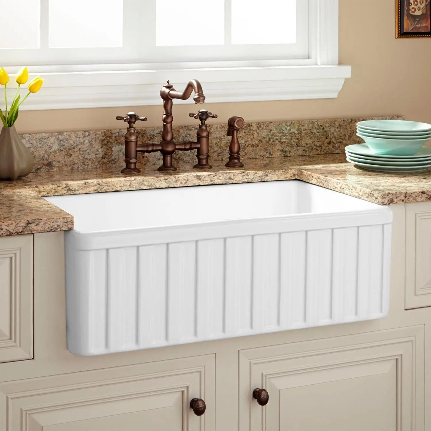 36 gallo fireclay farmhouse sink with