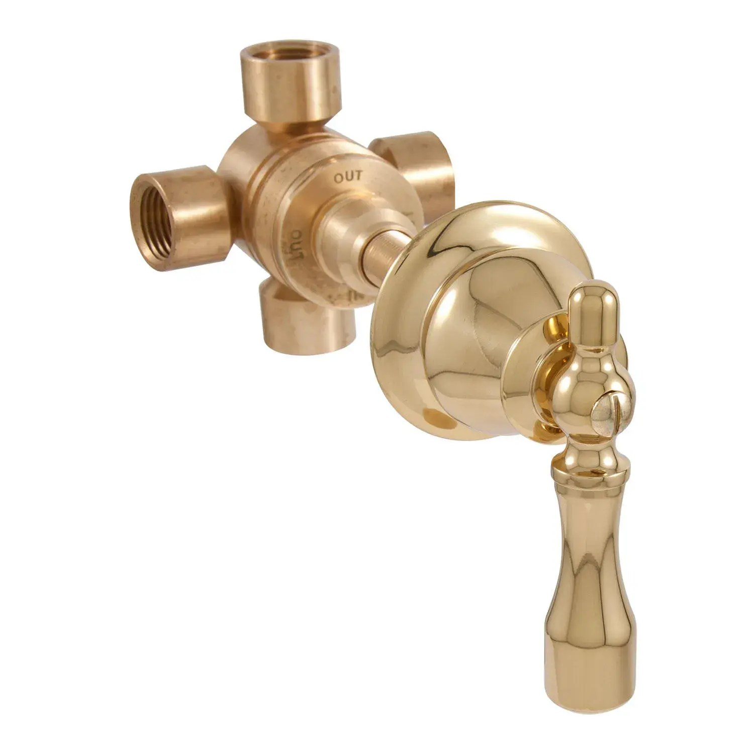 traditional three way in wall shower diverter lever handle