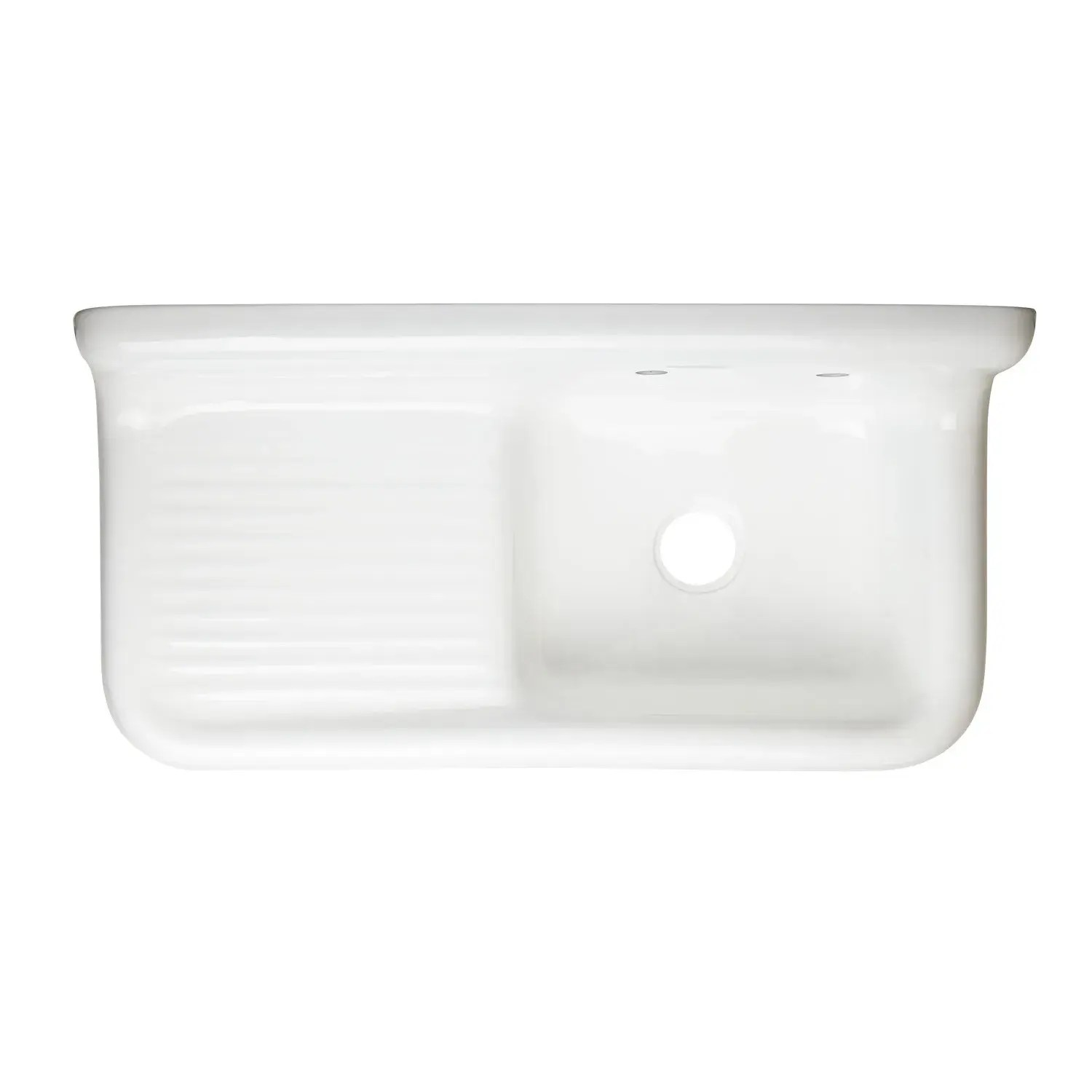 42 cast iron wall mount kitchen sink with drainboard