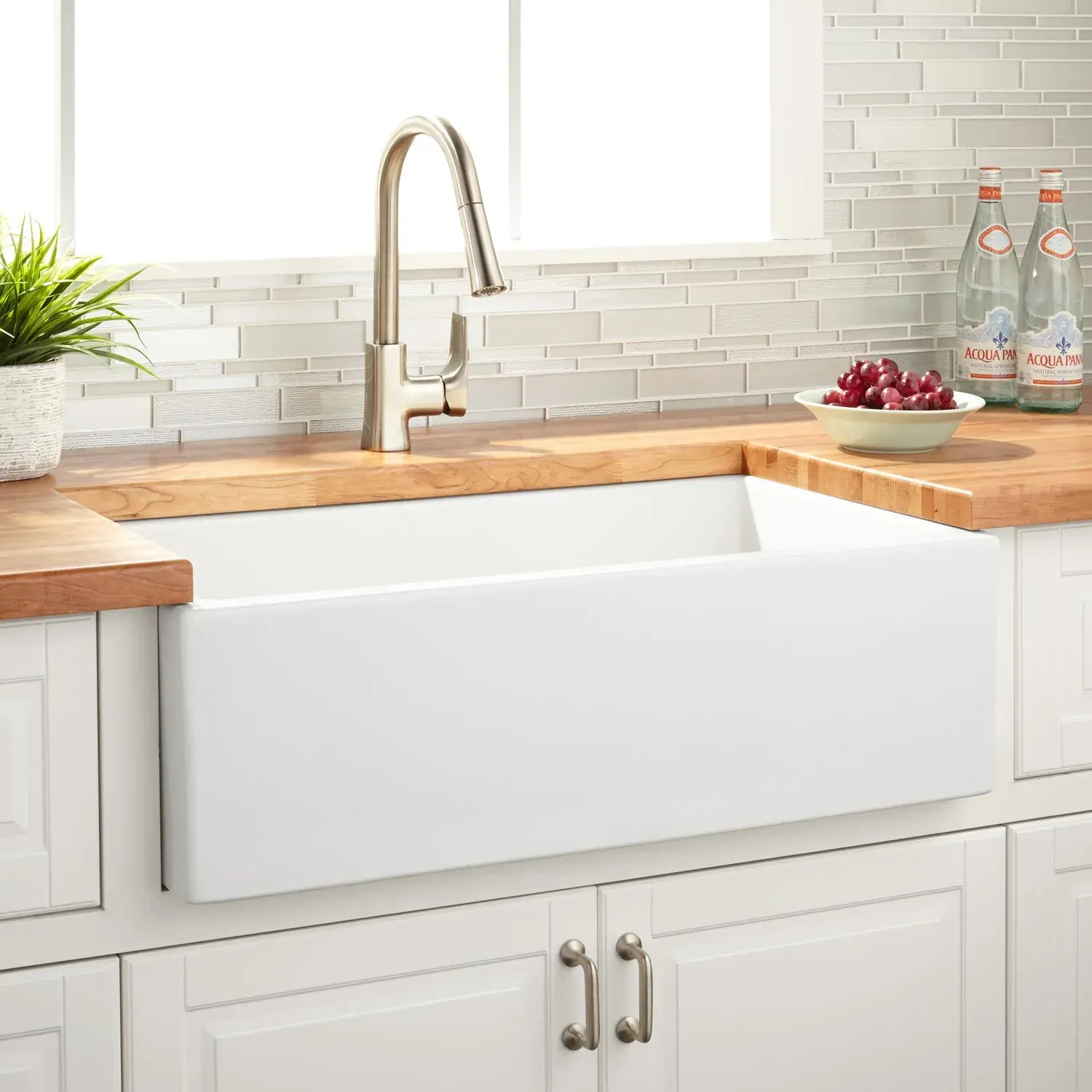 33 grigham reversible fireclay farmhouse sink white