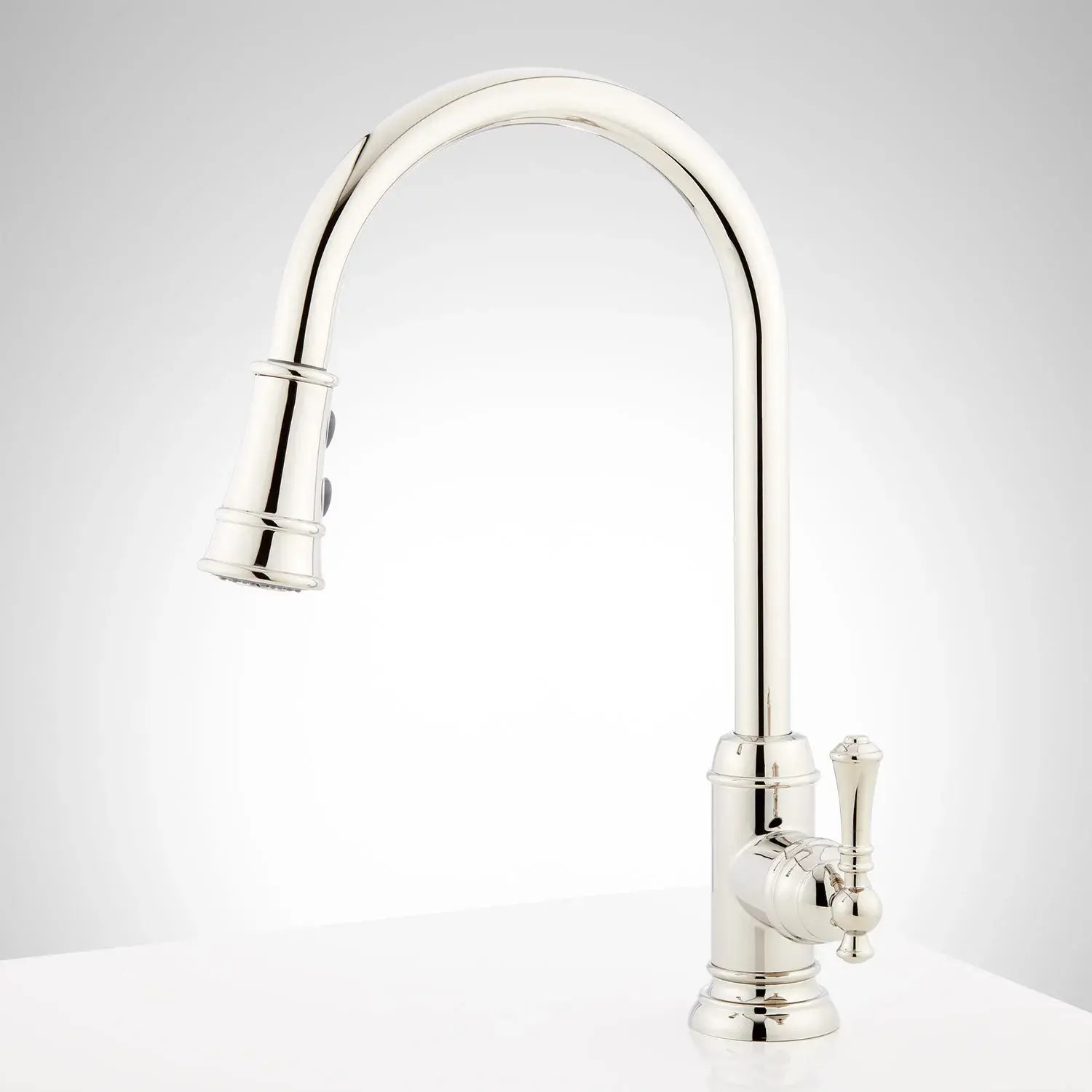 amberley single hole pull down kitchen faucet