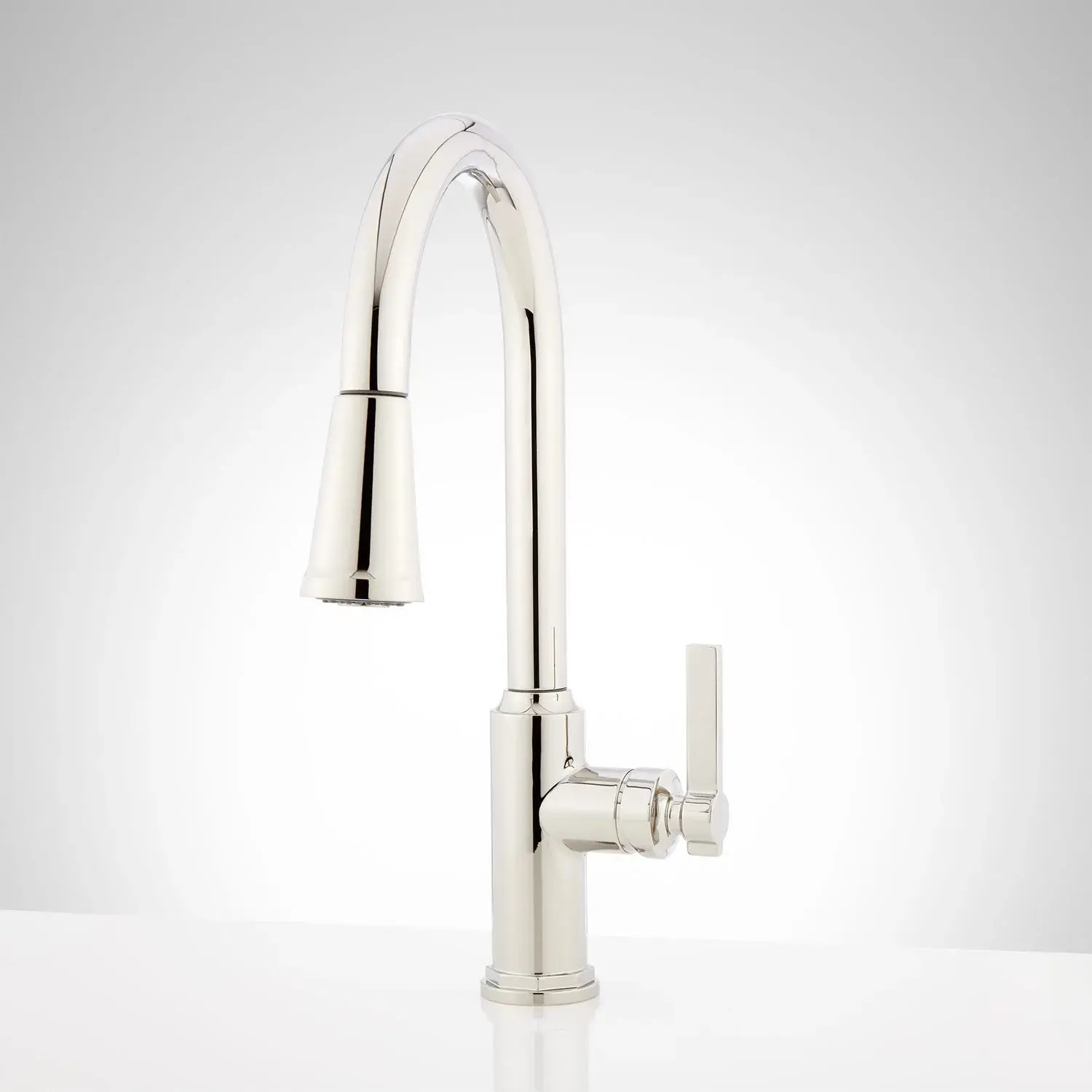 greyfield single hole pull down kitchen faucet