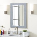 Fallbrook Vanity Mirror Gray Bathroom