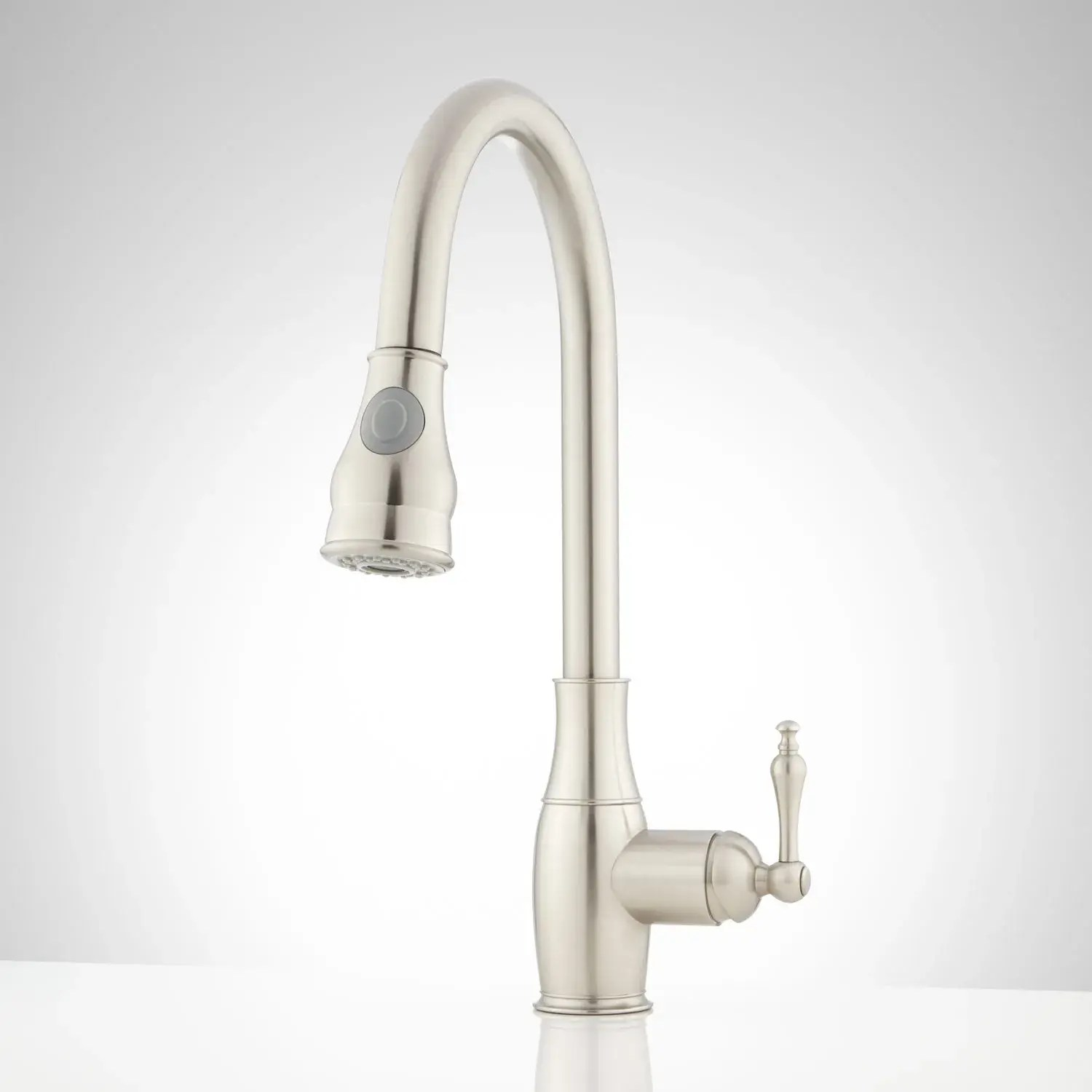baron single hole pull down kitchen faucet