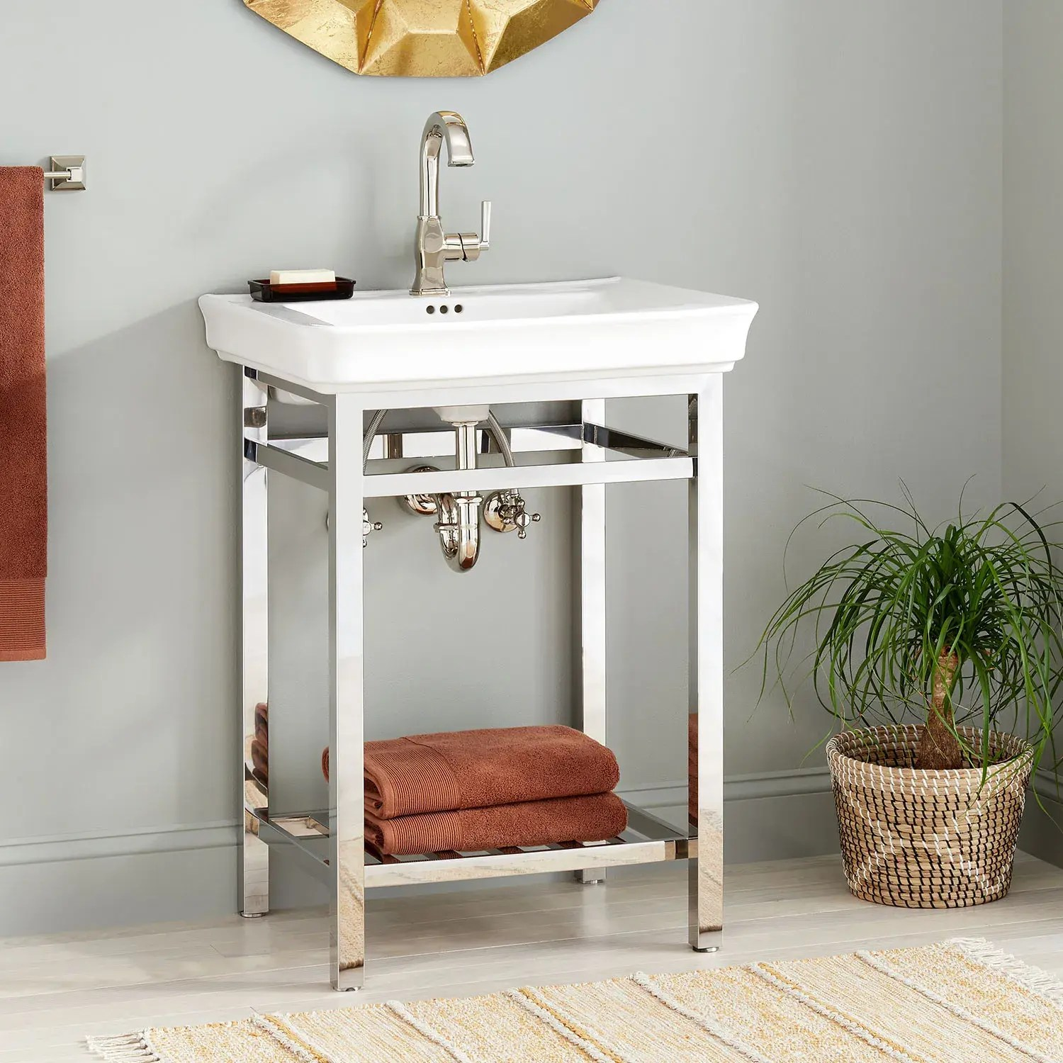 26 halyard console sink with traditional top