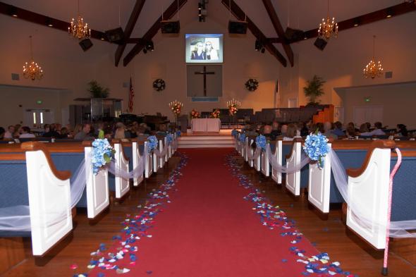 Church/Aisle Decorations | Weddingbee Photo Gallery