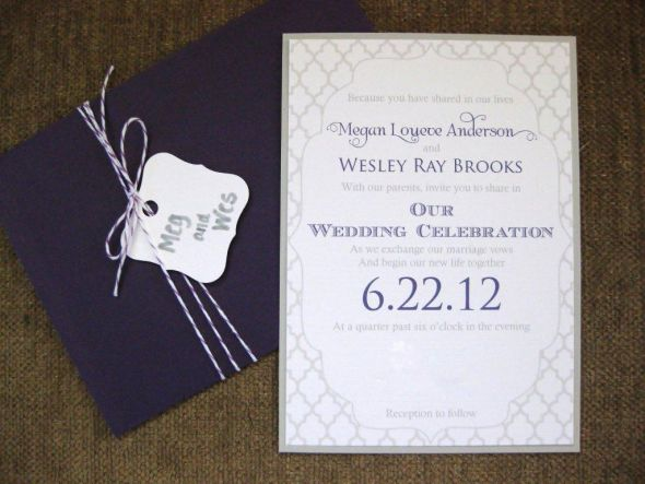 Cut Out Invitations