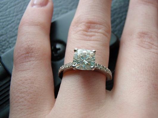 My Moissanite Engagement Ring Weddingbee Photo Gallery