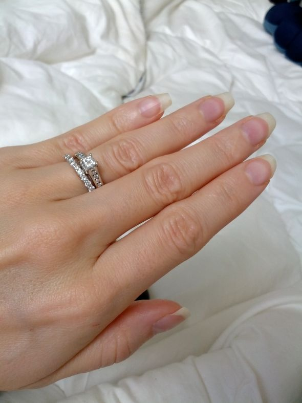 Our Wedding Rings And My Set Together PIC Heavy