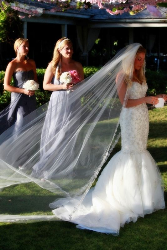 Me Cathedral Veil And Trumpet Ceremony Gown Weddingbee