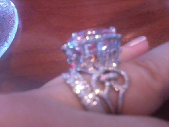 KatyElles Padparadscha Sapphire Engagement Ring
