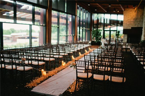 Romantic Indoor Ceremony Chicago Independence Grove