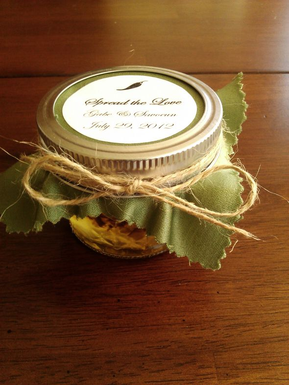 DIY Jalapeo Jam Wedding Favors Weddingbee Photo Gallery