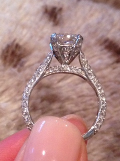 My Cushion Cut Micro Pave Engagement Ring Weddingbee
