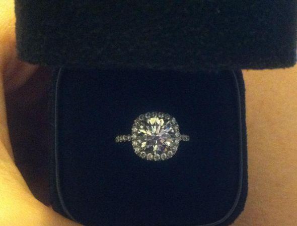 My Round Diamond In Cushion Halo Weddingbee Photo Gallery