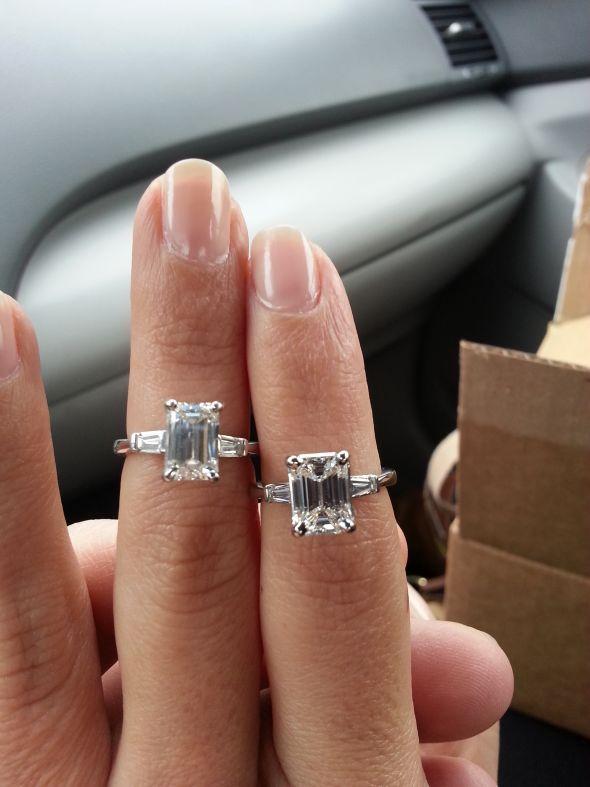 Emerald Ring Dilemna The Ratio Issue Weddingbee Photo