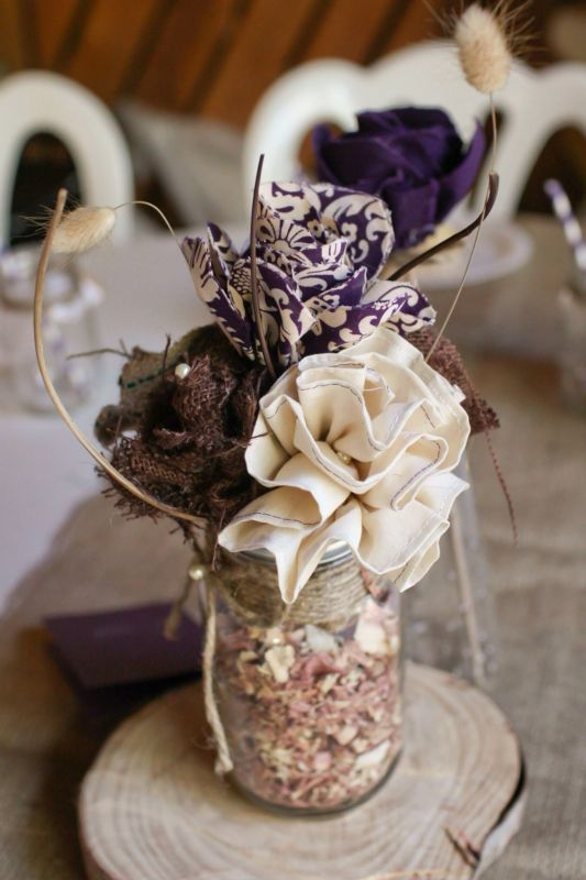 Burlap And Fabric Diy Center Pieces Weddingbee Photo Gallery