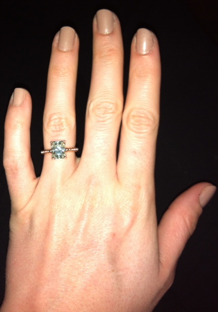 Rose Gold 97 25 Ct Radiant Cut Moissanite Solitaire