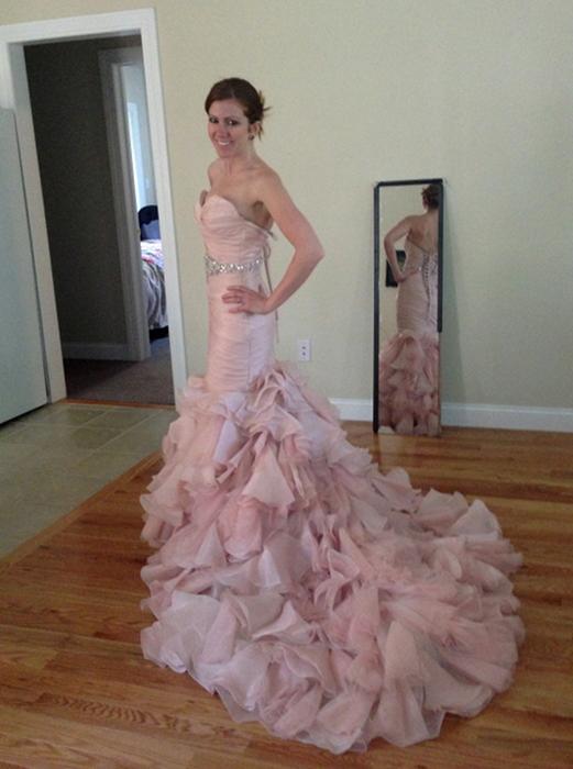 My Maggie Sottero Blush Divina Wedding Dress Weddingbee