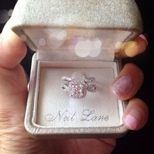 Neil Lane Halo With Rose Gold Bands Weddingbee Photo Gallery