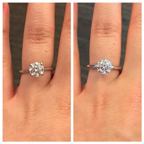 Reset My Ring 4 Prong To 6 Prong Solitaire