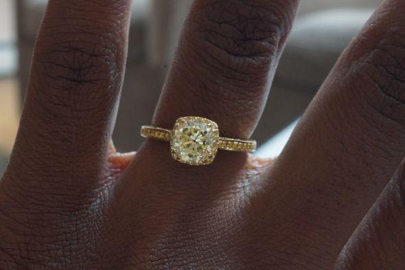 Yellow Gold Yellow Diamond Dream Ring Weddingbee Photo