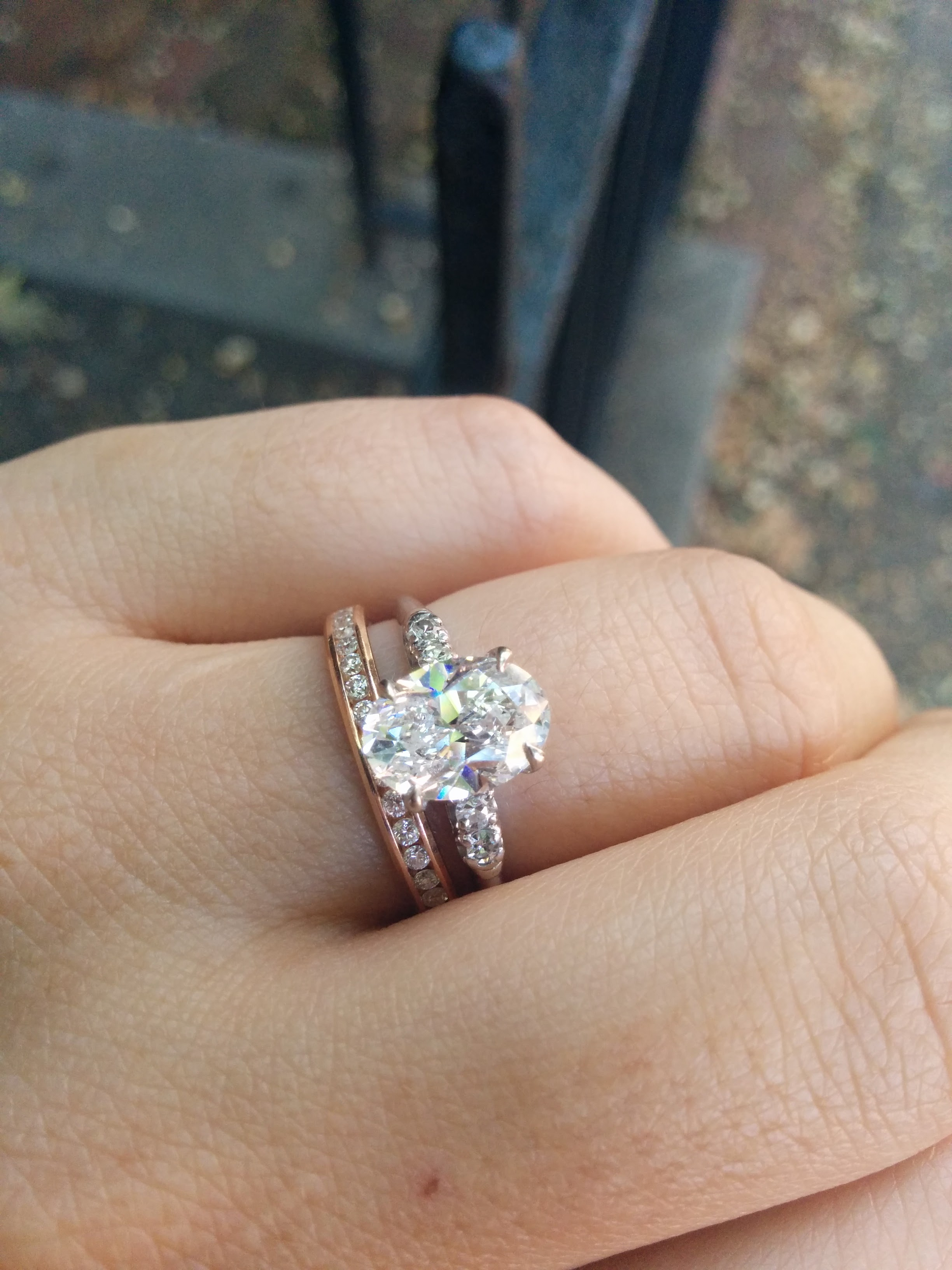 Oval Engagement Rings Pics Please Yes I Changed My