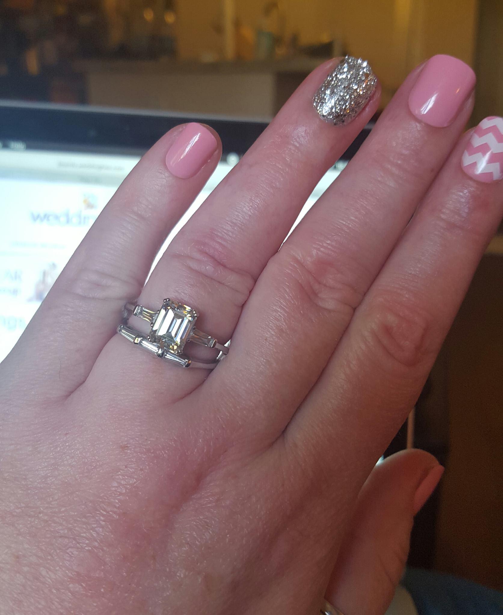 Emerald Cut Moissanite 25 Ct Dream Weddingbee Photo Gallery