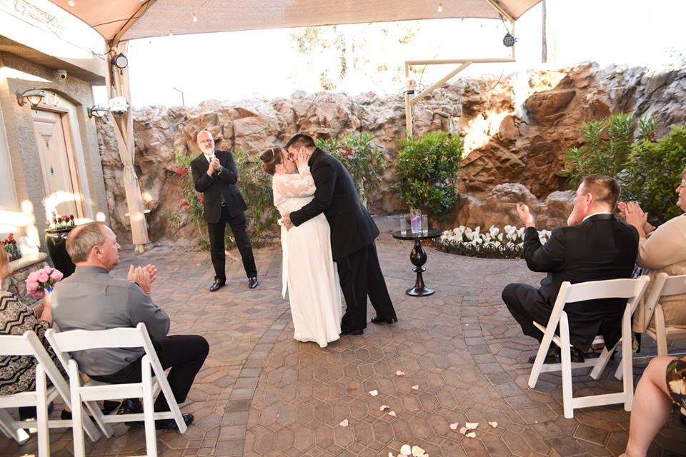 Las Vegas Chapel Of The Flowers Wedding PIC HEAVY