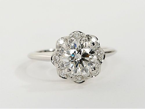 Floral Halo Engagement Rings?