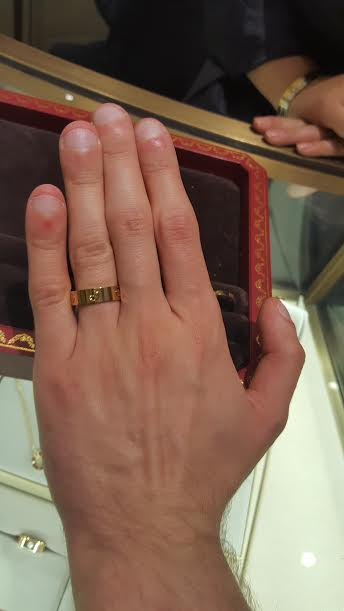 FI And I Tried On The Cartier Love Wedding Bands What Do